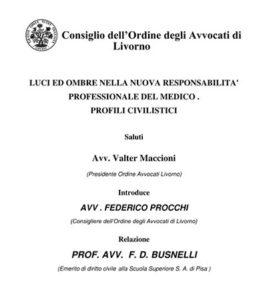 Congresso dell'Ordine degli Avvocati di Livorno – 28 Aprile 2017 – Palazzo Pancaldi – Livorno