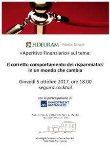 """""""Aperitivo finanziario"""" al Meeting & Conference Centre Pancaldi di Livorno"""