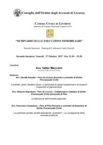 Seminario Livorno (Toscana) sulle esecuzioni immobiliari