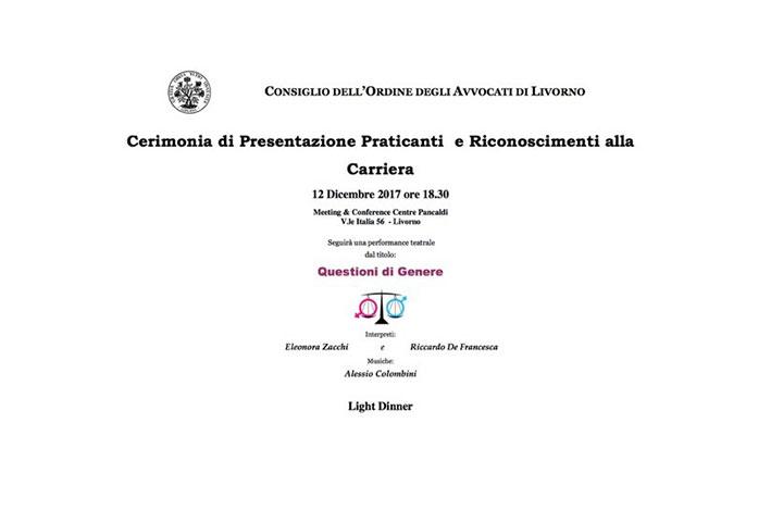 Cerimonia di Presentazione Praticanti e Riconoscimenti alla Carriera – Palazzo Pancaldi – Livorno
