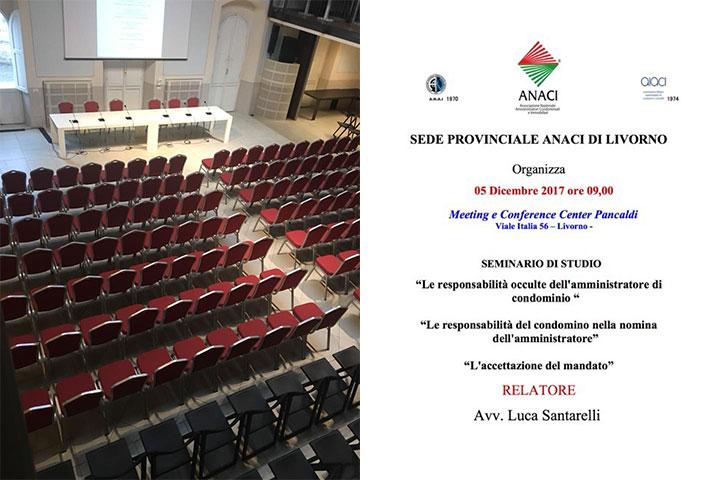 Seminario d'aggiornamento ANACI Livorno – Martedì 5 dicembre 2017 – Palazzo Pancaldi
