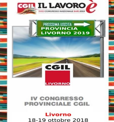 Giovedì 18 e Venerdì 19 ottobre, presso il Centro Congressi Pancaldi, si volgerà la due giorni del IV Congresso Provinciale CGIL