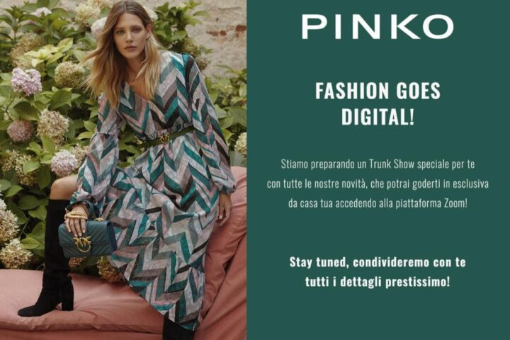 Trunk Show in streaming by Pinko in Toscana a Palazzo Pancaldi